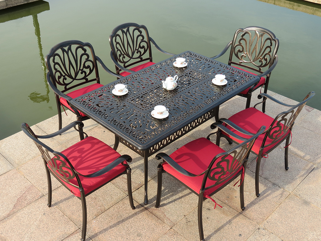 SY-9174T 9002C cast aluminum furniture