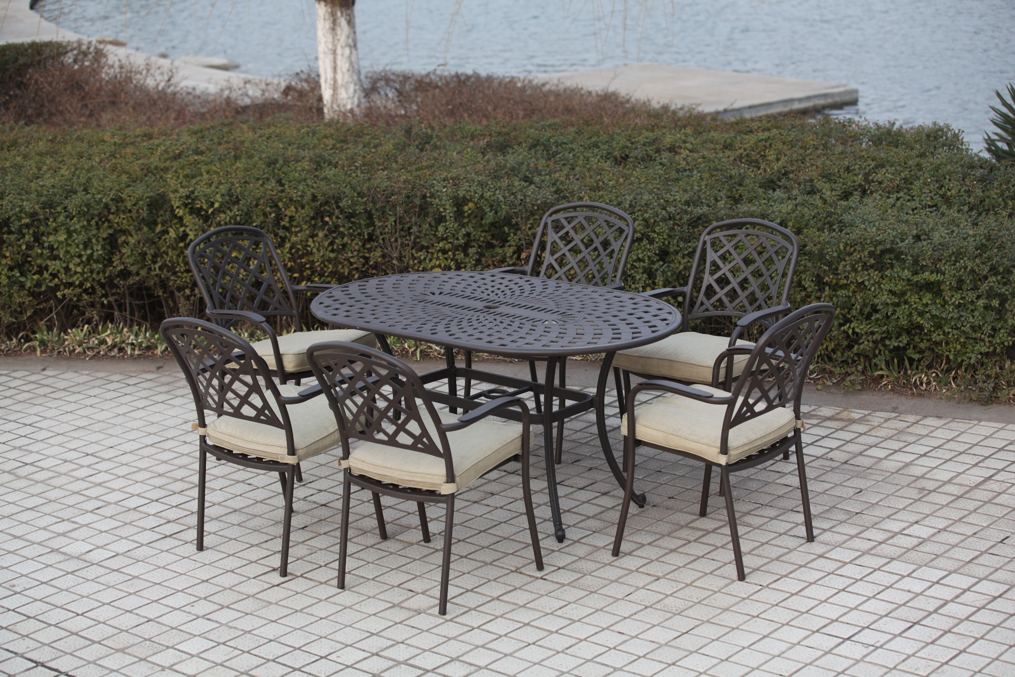 SY-9145T 9048C dining table and chair