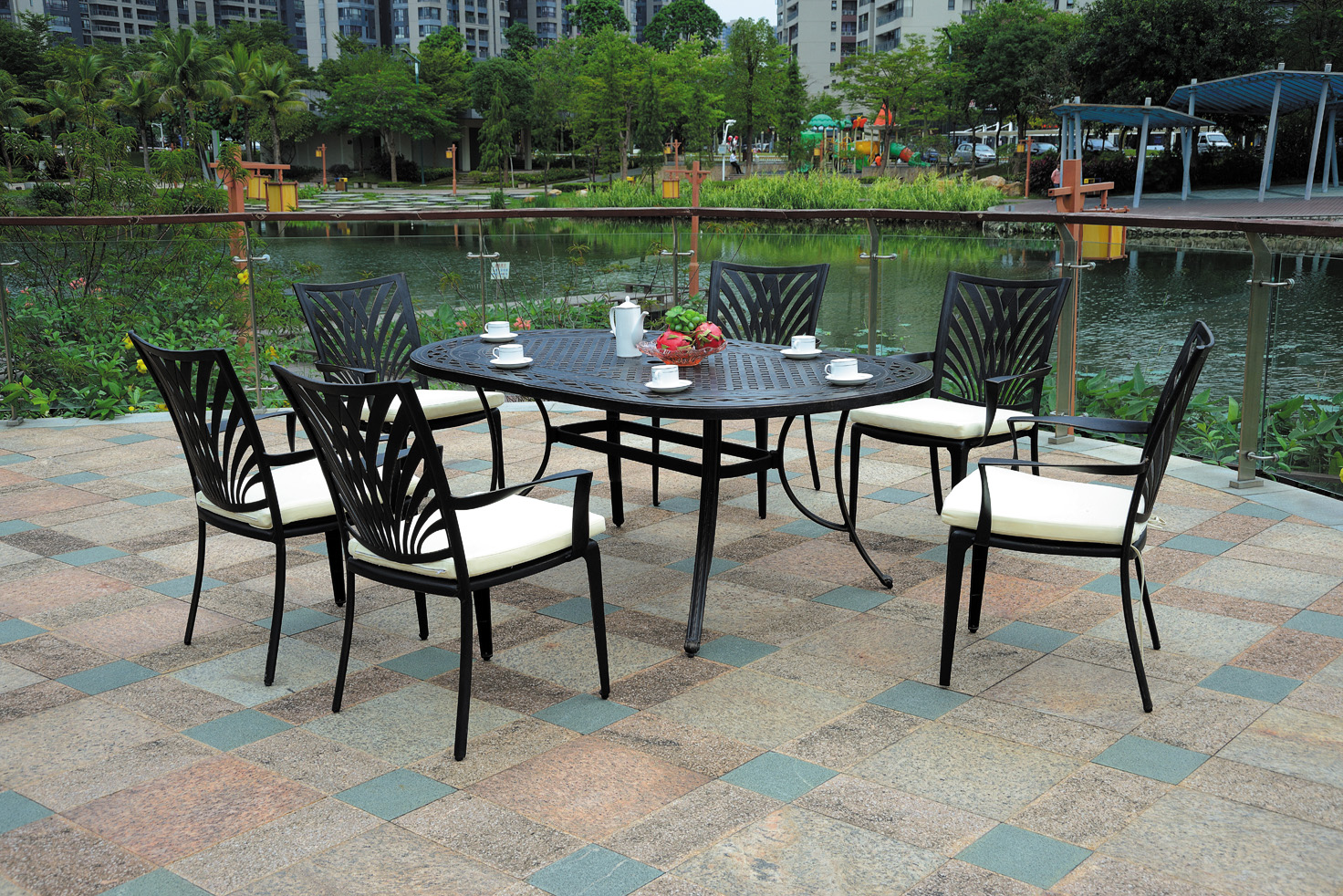 SY-9406TC cast aluminum table and chair